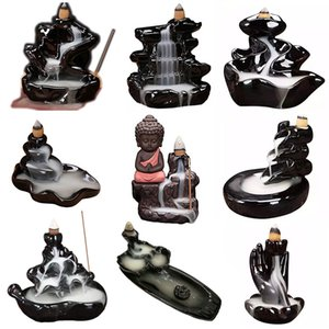 Ceramic Backflow Incense Burner Holder Censer Aromatherapy Smoke Backflow Stick Incense Censer for Kids Birthday Party Gifts