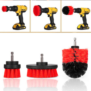 3pcs Set Drill Scrubber Brush Car Kit Detailing Tile Grout Car Boat RV Tub Cleaner Scrubber Cleaning Tool Brushes Cleaning Kit