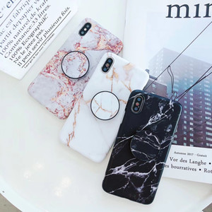 Wholesale New Arrivals Fashion Marble Stone Phone Case for iPhone XS MAX XR X S Plus Soft TPU phone cases with airbag Bracket