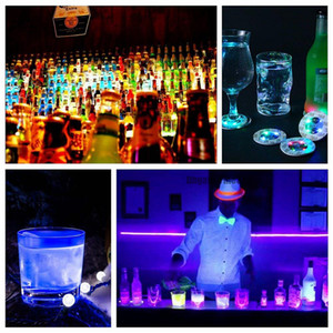 Bottle LED Light Stickers LED Wine Bottle Glorifier Mini Light LED Coaster Cup Mat Party Bar Club Glass Vase Xmas Decoration