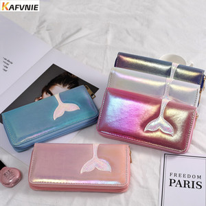 Wholesale New Mermaid PU Women Wallet Luxury Embroidery womens Wallets and Children Purses Brilliant Pink Novelty Purse Mobile phone bag