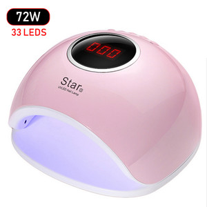 Wholesale 72W Nail Dryer UV LED Lamp LCD Display LEDs Nail Dryer Lamp For Curing All Gel Polish Auto Sensing Manicure Tools