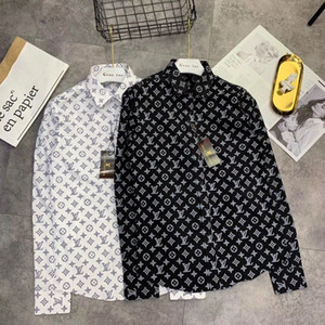 Wholesale Fashion Mens Designer shirts colors full letter print luxury designer polo shirts real picture high quality