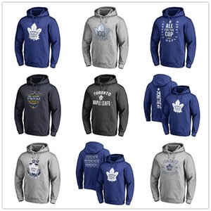 Wholesale 2019 Men's Toronto Maple Leafs Hockey Hoodies Branded Black Ash Gray Sport Hoody long Sleeve Outdoor Wear Free shipping printed logos