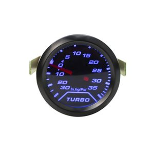 Wholesale 2 quot mm Auto Turbo Boost Gauge PSI Smoke Dial Blue LED Light Interior Dash Car Meter