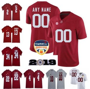 Custom 2019 Alabama Crimson Tide Football Jerseys Men Women Youth Size S - 4XL 5XL Devonta Smith Henry Ruggs Quinnen Williams Tagovailoa on Sale