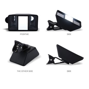 Clip-on Universal Black Mini 3D Effect Stereo Photos Accessories ABS Mobile Phone Lens Camera Self-Timer Tablet VR Video