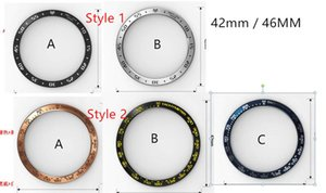 ingrosso s3 lunetta-Smart Accessories Bezel Ring Styling Case Cover adesiva antigraffio per Samsung Galaxy Watch mm Samsung S3 Frontier mm