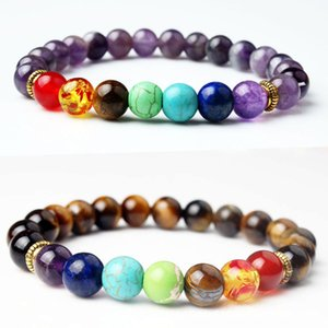 New Planets Bead Bracelet Black Lava Natural Stone Universe Yoga Chakra Solar Bracelet Buddha Prayer For Men and Women Jewelry