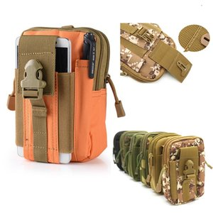 Hot Wallet Pouch Purse Phone Case Outdoor Tactical Holster Military Molle Hip Waist Belt Bag with Zipper for iPhone Samsung LG SONY