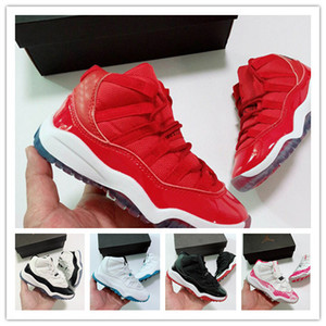 Wholesale hot kids sale free shipping 19 brand J11 Men Prom Night Win Like Shoes Bred Space Jam Discount Barons Space Jam Concords casual shoe
