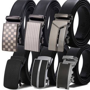 Wholesale Famous Brand Designer Belts High Quality Male Leather Strap with Metal Automatic Buckle Luxury Mens Belt