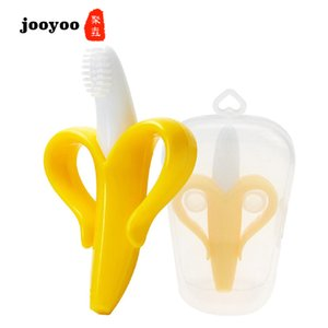 Wholesale Baby Toys Birth Gift Edible Plastic Kids Teethers Toy Love Children Banana Color Teething Stick