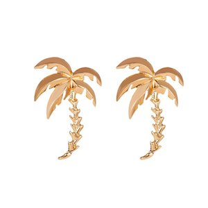 Wholesale 2020 creative coconut tree earrings gas summer beach wind earrings beach accessories exaggerated gift jewelry