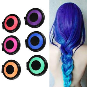 6 Colors Temporary Hair Chalk Dye Powder With Salon Hair Mascara Crayons DIY Hair Care & Styling