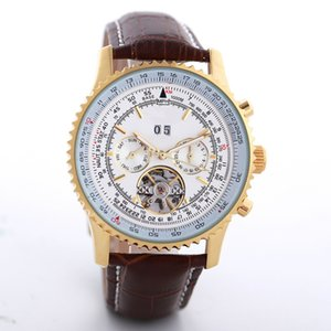 Wholesale New Fashion Men Women Brown Leather Luxury Watch Beauty Mechanical Hot Sale Gold automatic Stainless Steel Gold Dial female Designer Watches
