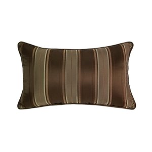 Wholesale chair covers stripes resale online - Hinyeatex Contemporary Soft Brown Stripes Waist Pillow Case x50cm Home Living Deco Sofa Car Chair Lumbar Cushion Cover Sell by Piece