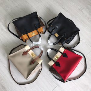 On My Side Shoulder handbag M53826 cowhide Messenger bags M53823 Commuter bags leather CrossBody bags tote bag with box