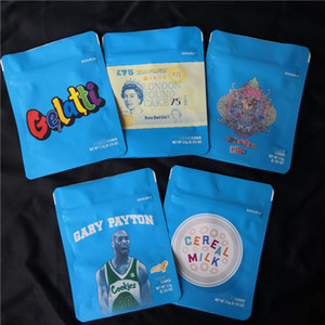 COOKIES California SF 8th 3.5g Mylar Childproof Bags 420 Packaging Gelatti Cereal Milk Gary Payton Cookies Bag size 3.5g-1 8 Bags