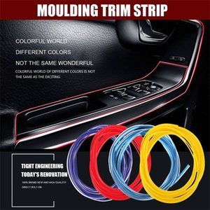 5M Gap Red Line Interior Moulding Car Edge Trim Accessory Universal Strip