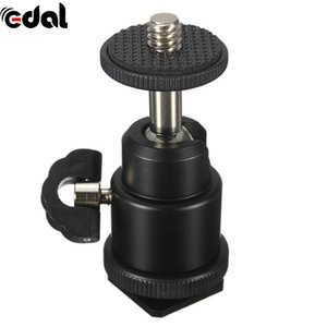 Wholesale Portable Bracket For Camera Tripod LED Light Flash Bracket Holder Mount Hot Shoe Adapter Cradle Ball Head with Lock Cheap