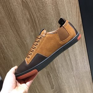 Wholesale New Arrival Mens Brown Casual Comfort Shoes British Designer Man Athletic Shoes Breathable Luxury Shoes For Male Leather Leisure Shoe