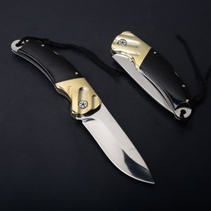 Wholesale Best Xmas Gift Folding Pocket Survival knife Blade Horn Handle EDC Outdoor Tools Tactical Hunting Hiking Knives Camping Gear P549F R