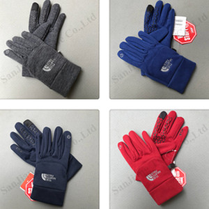 Wholesale The North Winter Designer Gloves TN Brand Polar Fleece Touch Screen Gloves Unisex Telefingers Warm Glove Face Cycling Mittens 2019 C101005