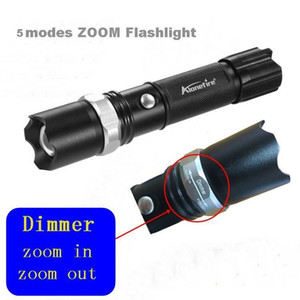 Wholesale TK107 Self defence Led Flashlight Lantern Lanterna Tactical Zoom Penlight Cree Led Flashlights With Battery Torch