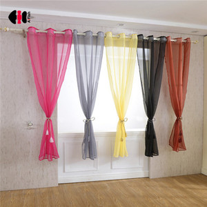 Wholesale Rainbow Colorful Voile Curtains Terylene Wedding Party Cinema Curtain Background Bedroom Window Screen Gauze D
