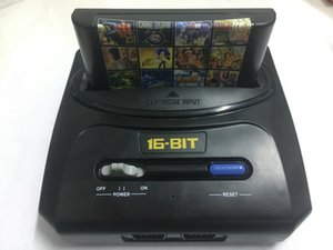 Wholesale 16 Bit Sega Genesis MD compact in dual system game console catridge rom support original game card high quality DHL Free