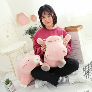 Wholesale Cartoon Elephant Pig Pillow Quilt Dual-use Hippo and Soft Pillow Office Multi-function Pillow Cushion Nap Blanket
