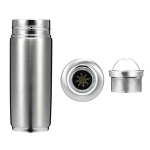 Wholesale 400ml Stainless Steel Quantum Alkaline Filtered Water Cup Balance Bio Energy Nanos Ionizer Flask Bottle Electrolytic Energy Cup