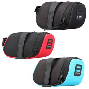 Wholesale bicycle seatpost bag resale online - Waterproof Mini Mountain Bike Saddle Bag Pouchs Road Bicycle Back Seat Tail Package Outdoor Cycling Mini Saddle Seatpost Bag