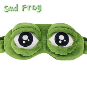 Wholesale 1Pc Adults Kids Sad Frog D Eye Mask Soft Sleeping Funny Cosplay Plush Stuffed Toys Party Eye Mask Gift