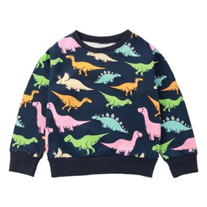 Wholesale Spring Dinosaur Baby Boy Sweater Long Sleeve Cartoon Animal Cute Baby Boy Girl Clothes Fashion children Clothing Sports Sweater