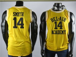 Wholesale The Fresh Prince of Bel Air Will Smith James Academy Movie Version Yellow Men s High Quality Basketball jersey Embroidered Stitched