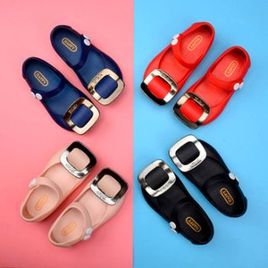 Wholesale Summer Girls Sandals jelly kids shoes Fashion princess girls shoes kids designer shoes kids Beach Sandals Girls Jelly Sandals A4546