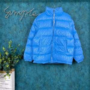 Wholesale 2020 Autumn Winter Europe France Paris Fashion Full of letters Down jacket High quality winter warm Blue down jacket high quality Men s top