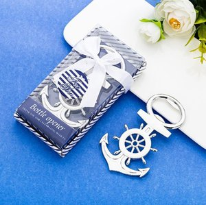 Wholesale wedding themes resale online - New Creative Metal Opener Anchor Rudder Beer Bottle Opener Sea Theme wedding favors for guests souvenirs XD23245