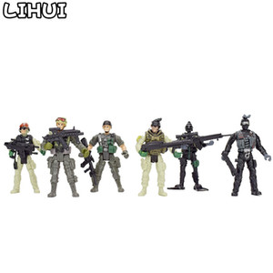 12Pcs set American Soldiers Military Model Toy Heroic Soldier Modeling Movable Joints Toys for Boys Toys Gift for Children