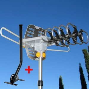 150 MILES OUTDOOR TV ANTENNA MOTORIZED AMPLIFIED HDTV W  MOUNTING POLE on Sale