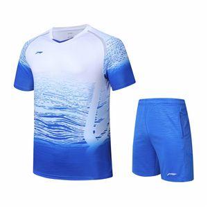 New Li Ning badminton short sleeve women's national team sponsorship men's game badminton shirt + shorts tennis table tennis shirt
