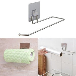Wholesale sticky wall paper for sale - Group buy Bathroom Paper Holder Multi Linked Non perforated Wall mounted Storage Rack Sticky Hook Wall mounted Wall Storage Sticky Hook
