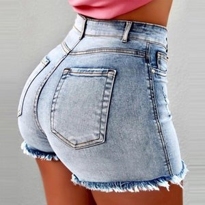853 # New European and American summer and autumn cowgirl shorts hot pants super nightclub women sexy high waist jeans