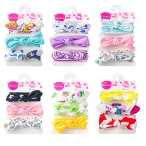 Wholesale Cute Baby Hair Accessories Hair Bows Nylon Headband Photography Lace Floral Denim Birthday gift for Boutique Head Accessories