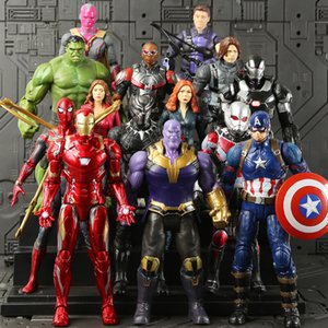 6 Style Avengers 4 Captain Marvel Action Figures Doll toys 2019 New kids Avengers Endgame Captain Marvel Thanos Iron Man spiderman Toy B on Sale