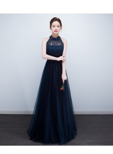 Wholesale Banquet evening dress new summer long party host prom dress fashion bride toast clothing evening dress female