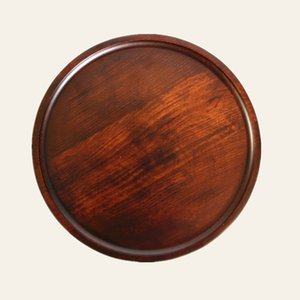 Wholesale round wooden trays resale online - Round Solid Wooden Dessert Tray Plate Pizza Dish Breakfast Bread Tray Cup Pad Fruit Platter Dish Hotel Server Trays Customize DBC VF1615
