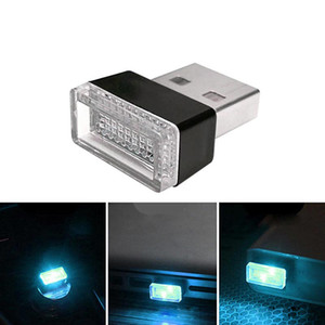 Car USB LED Atmosphere Lights Decorative Lamp Emergency Lighting Universal PC Portable Plug and Play Red Blue White